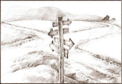 Crossroads Signpost